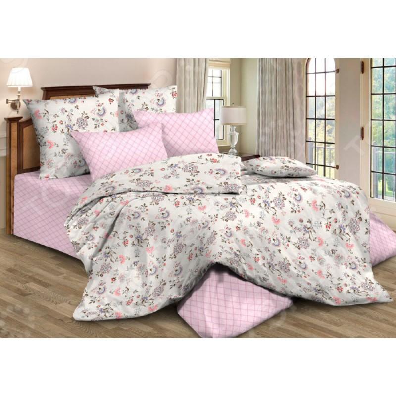 Комплект постельного белья Guten Morgen 795. 1,5-спальный. Цвет: розовый