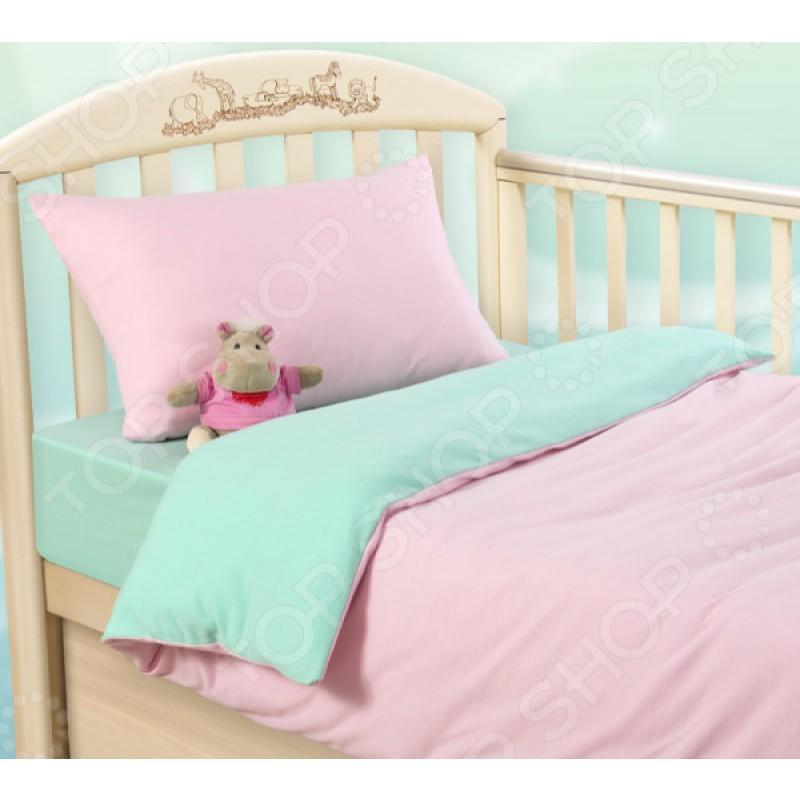 Ясельный комплект постельного белья ТексДизайн «Розовая свежесть»