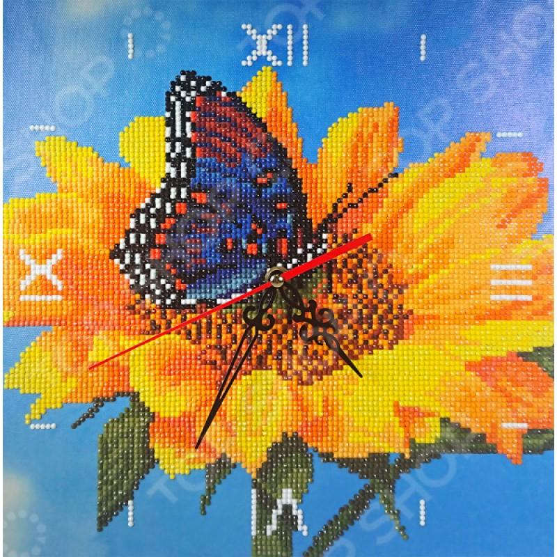 Часы из алмазной мозаики Color Kit «Подсолнух»